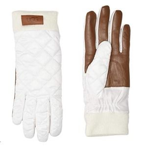 UGG WOMEN QUILTED PERFORMANCE GLOVES S/M